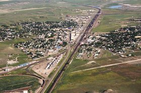 Shelby, MT aerial photo