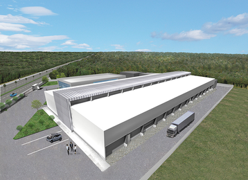 Digital rendering of IIJ's planned data center campus, Shiroi, Japan