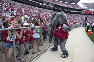Big Al, the Alabama Crimson Tide mascot