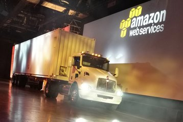 snowmobile aws truck data delivery