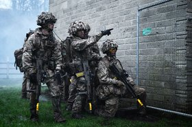 Soldiers with 1st Royal Regiment of Fusiliers on an excercise