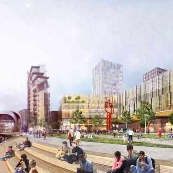 South Bank Leeds' regeneration concept image