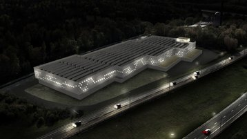Potential data center at Kista - artist's impression