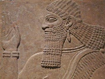 sumerian assyrian wall carving british museum