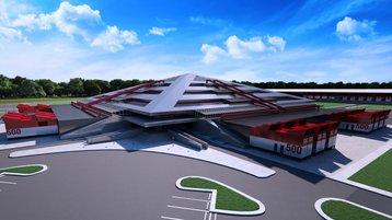 Pyramid Campus at full capacity - 3D render