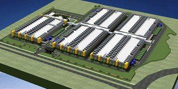 RagingWire Texas tx1 rendering aerial view