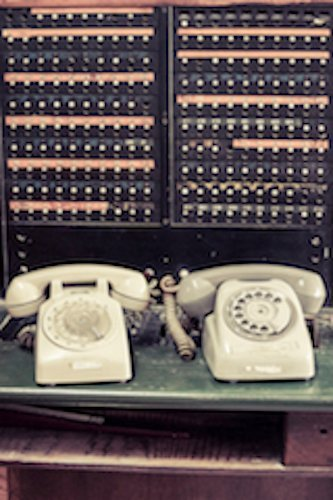 telco old fashioned telephone exchange