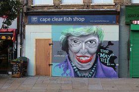 Theresa May graffiti