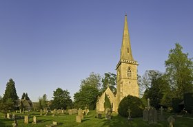 Church in Gloucestershire, Cotswold hills, UK