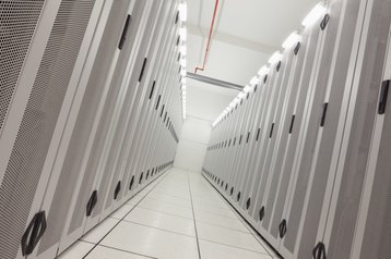 inside a data center somewhere