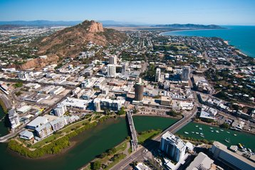 Aerial view of Townsville, Queensland, Australia
