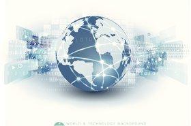 Globe research map finance data