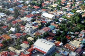 Aerial view of Davao City, Mindanao Island, Philippines