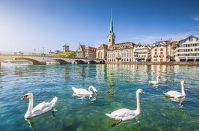 Zurich's river Limmat, Switzerland