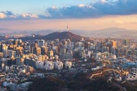 Seoul city skyline, South Korea