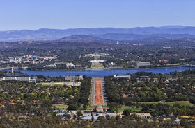 Aerial view of Canberra, Australian Capital Territory