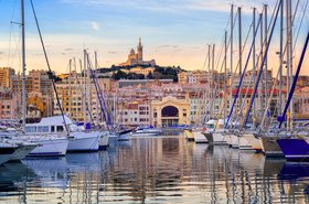 Marseille's old port, France