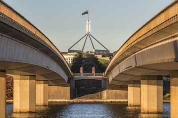 Commonwealth bridge, Canberra, Australia
