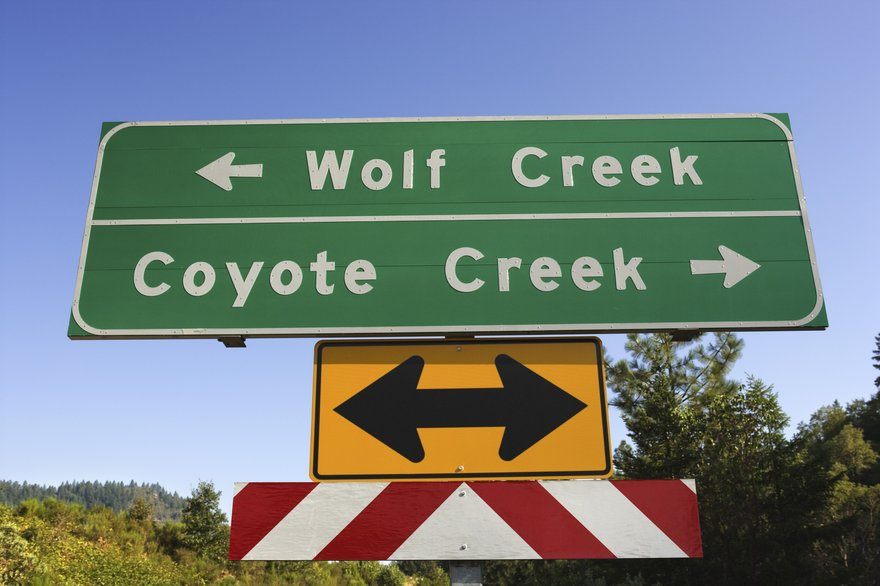 Wolf Creek road sign