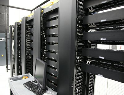 Racks at one of TierPoint's Spokane, Washington, data centers.