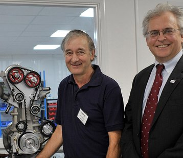 Peter Dearman, inventor, with Toby Peters, CEO