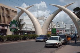 tusks in city of mombasa Kenya