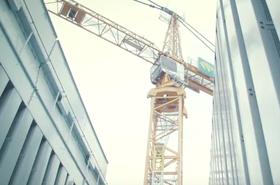 Equinix AM4 tower construction