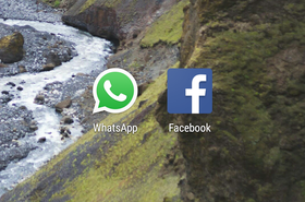 WhatsApp, Facebook logos