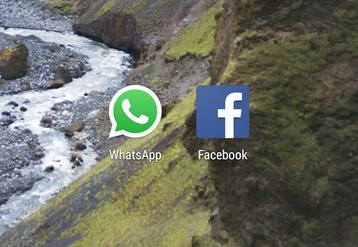 WhatsApp, Facebook logos