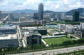 ZTE corporate headquarters in Shenzhen, China