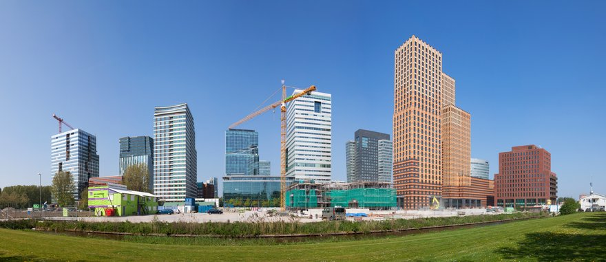 A panorama of the Zuidas business district in Amsterdam, the Netherlands