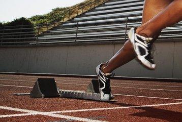 athlete running race sport starting blocks thinkstock photos jupiterimages