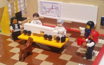 aws snowmobile lego horse