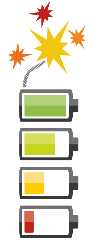 Batteries exploding