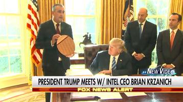Brian Krzanich meets Trump