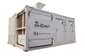 co-IZmo/I data center container from Internet Initiative Japan