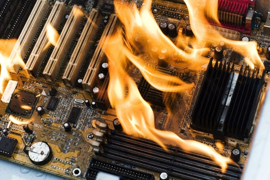 computer fire thinkstock