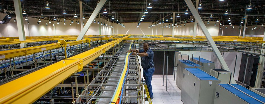 Inside one of QTS data centers