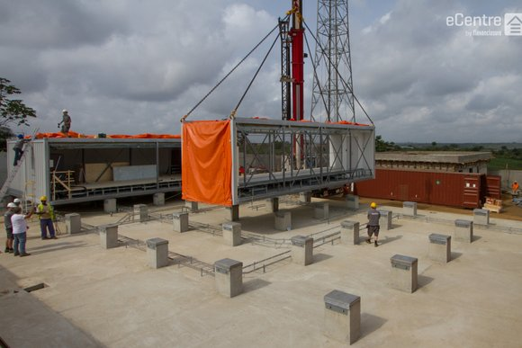 eCenter assembly in Cote D'Ivoire