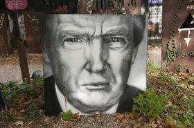 Donald Trump, painted portrait