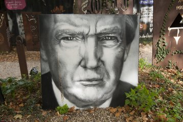 Donald Trump, painted portrait
