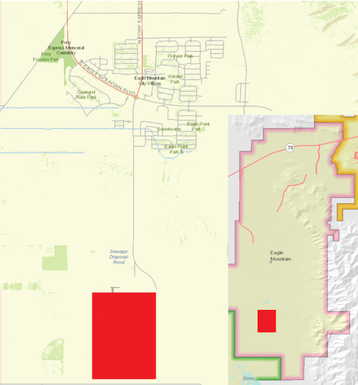 Proposed Eagle Mountain data center location