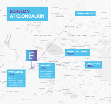 Proximity map for Clondalkin site