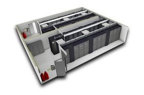 SmartMod data center - 3D render