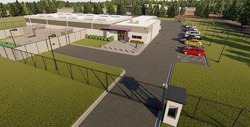 Data center in Huntsville - 3D render