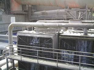 Some evaporative cooling towers display obvious signs that they will clearly be under performing.