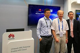 Representatives of Huawei, Deutsche Telecom and Mellanox at ISC17