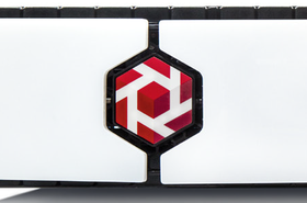 Tintri logo on a grill