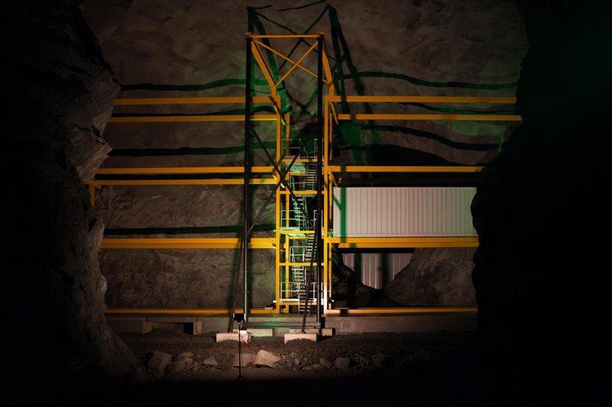 Inside Lefdal Mine