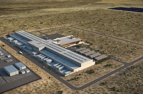 A rendering of the Los Lunas data center